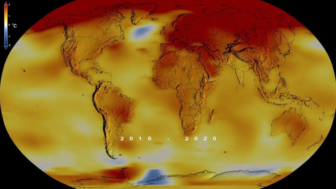 2020 był najcieplejszym rokiem w historii pomiarów. Animacja NASA