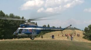 Tragiczny wypadek w Pieninach (TVN24)