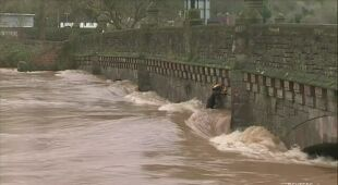 Na rzece Wye zanotowano rekordowy poziom wody